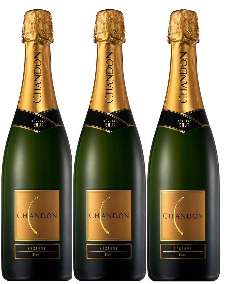 Kit 3 Espumantes Chandon Reserve Brut - 750ml -