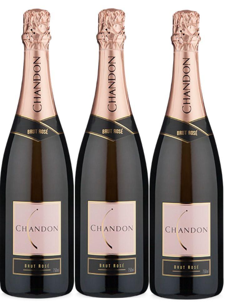 Kit 3 Espumantes Chandon Brut Rosé - 750 ml -