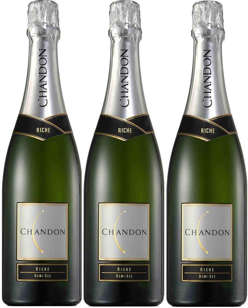 Kit 3 Espumantes Chandon Riche Demi-Sec - 750ml -