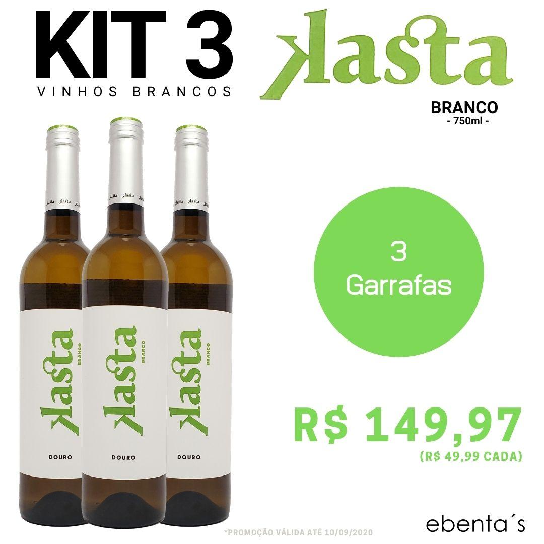 Kit 3 Vinhos Brancos Kasta