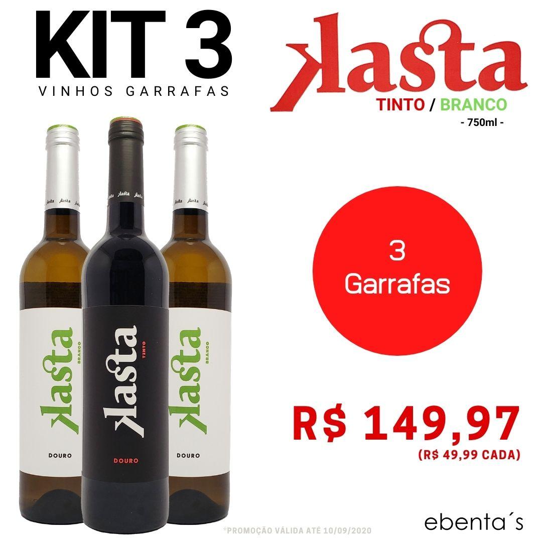 Kit 3 Vinhos Kasta (2 Brancos + 1 Tinto)