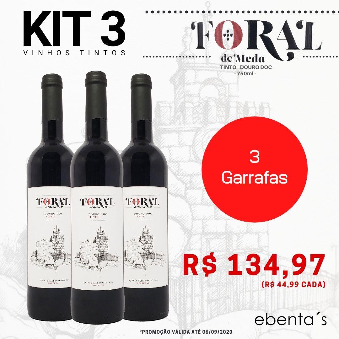 Kit 3 Vinhos Tintos Foral de Meda