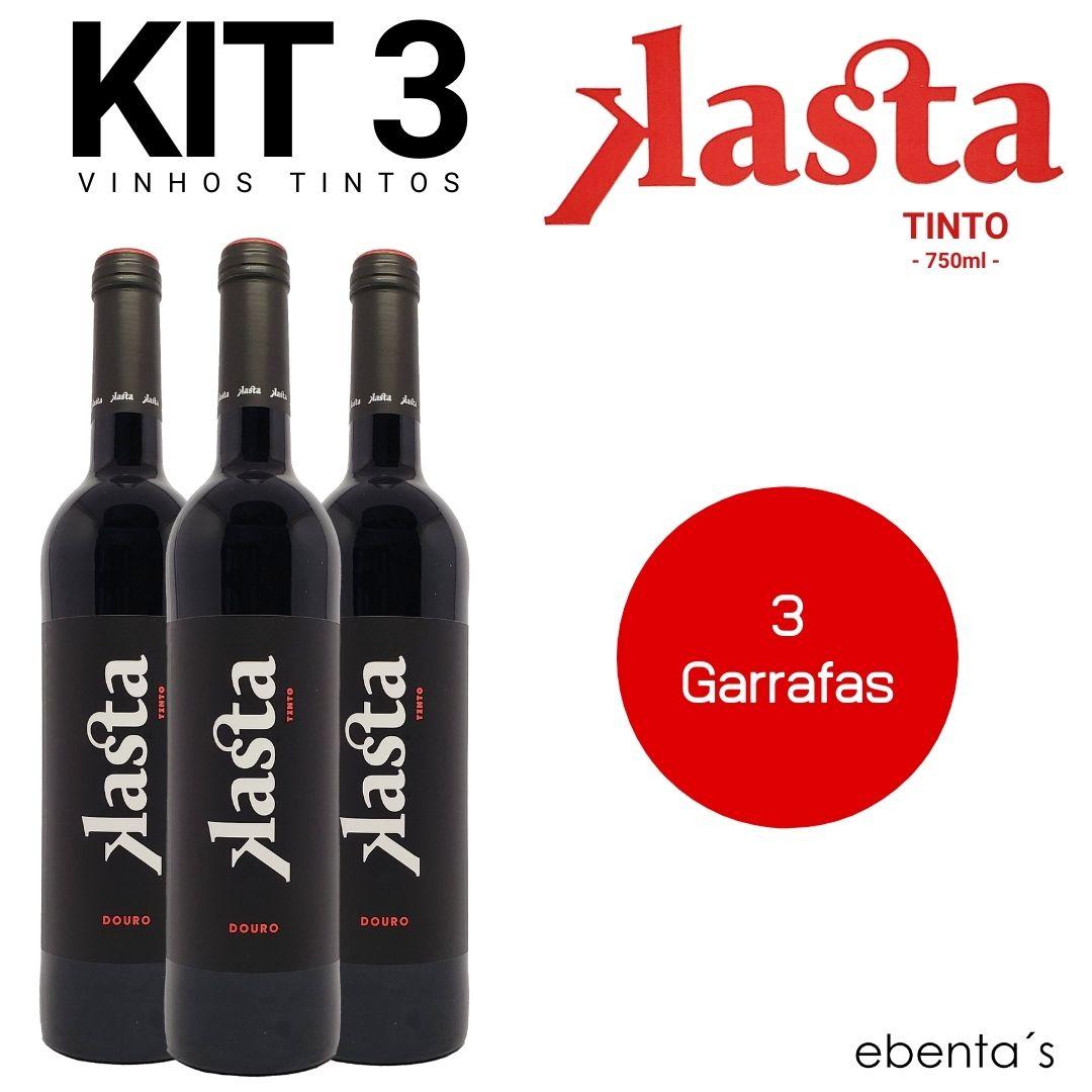 Kit 3 Vinhos Tintos Kasta