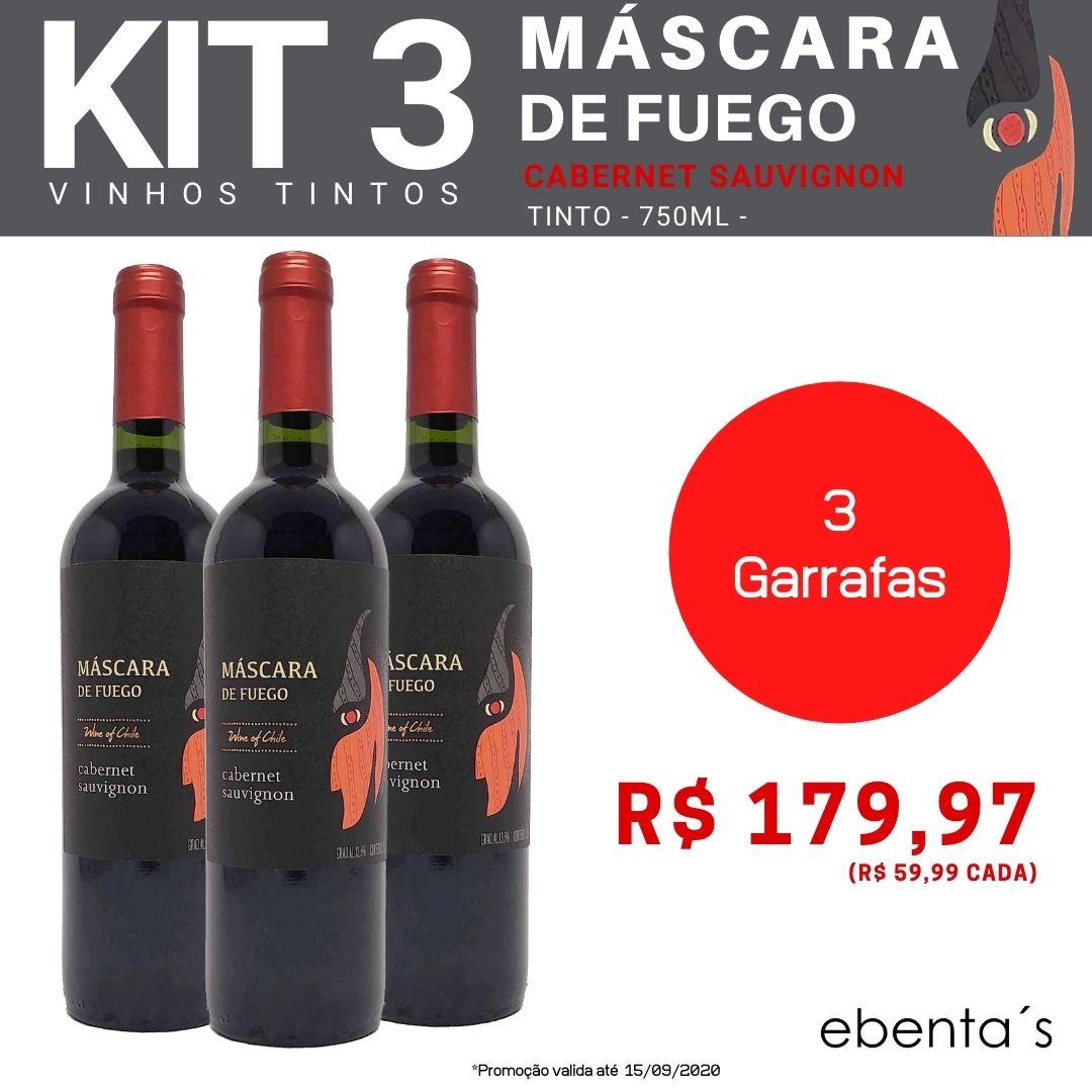 Kit 3 Vinhos Tintos Máscara de Fuego Cabernet Sauvignon