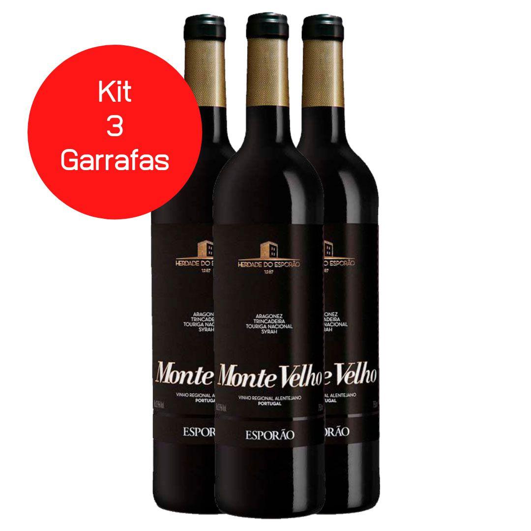 Kit 3 Vinhos Tintos Monte Velho Esporão