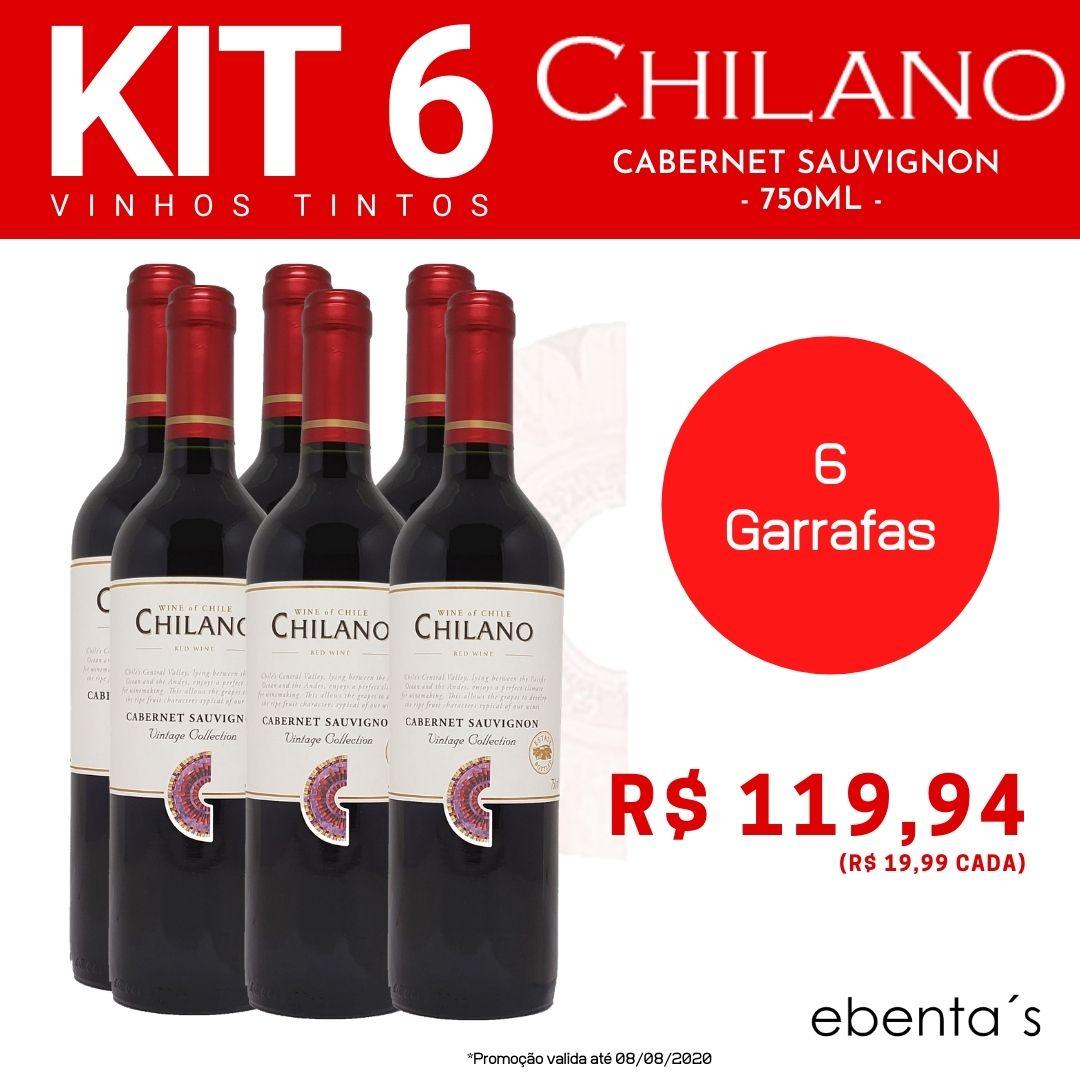 Kit 6 Vinhos Tintos Chilano Cabernet Sauvignon Vintage Collection