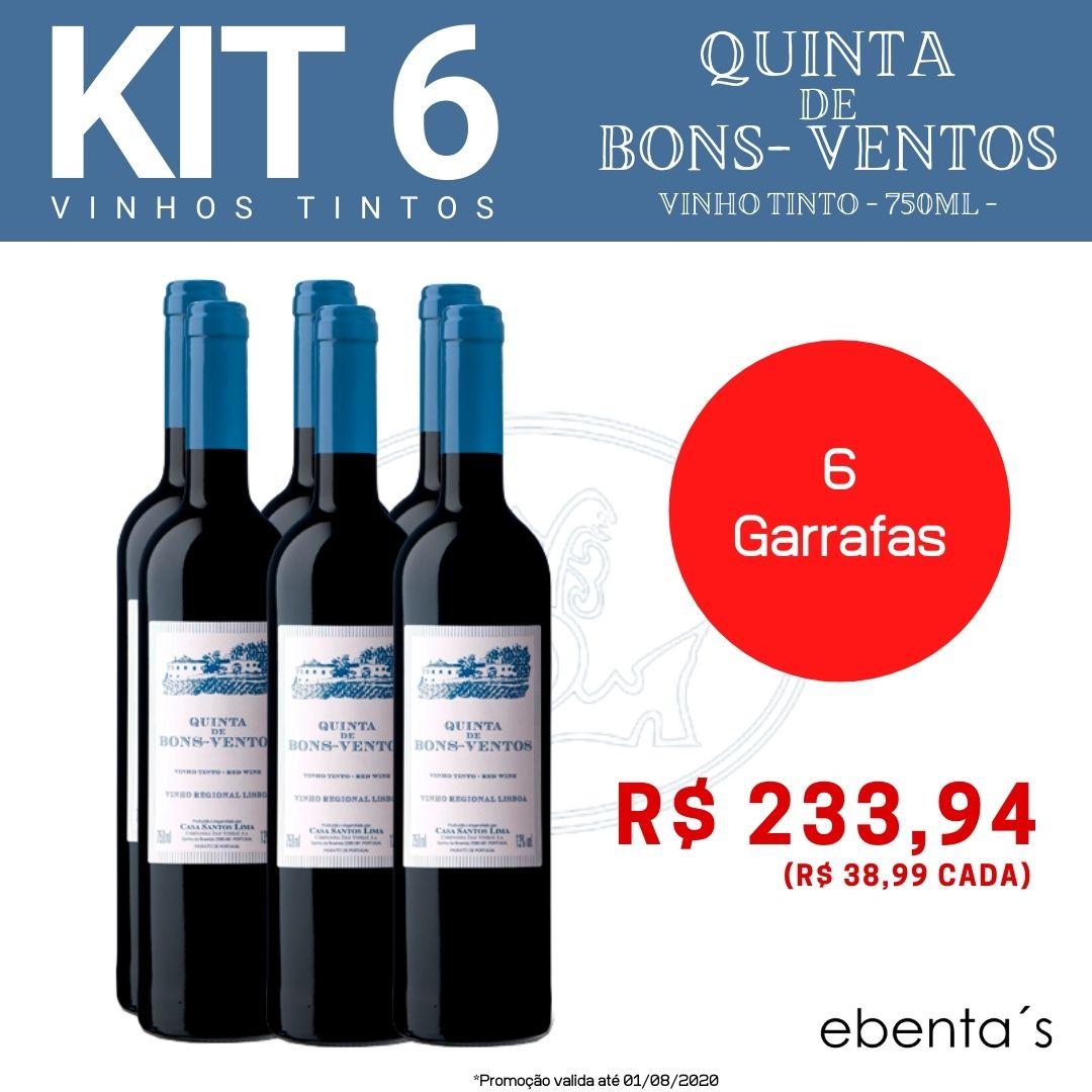 Kit 6 Vinhos Tintos Quinta de Bons-Ventos
