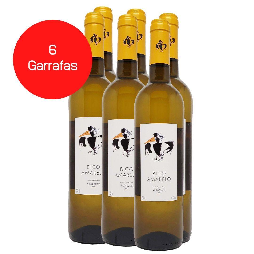 Kit 6 Vinhos Verdes Bico Amarelo