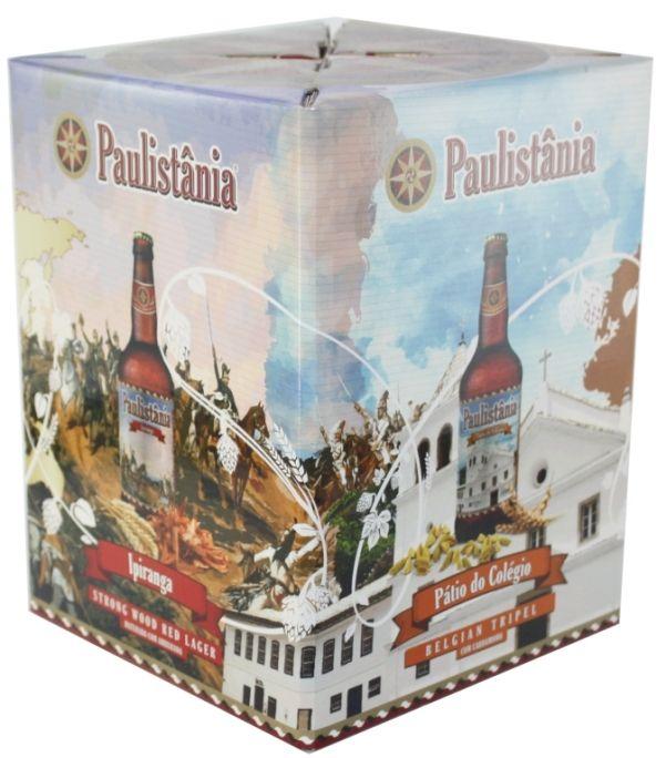 Kit Cerveja Paulistânia Craft Com 4 Garrafas - 500ml -