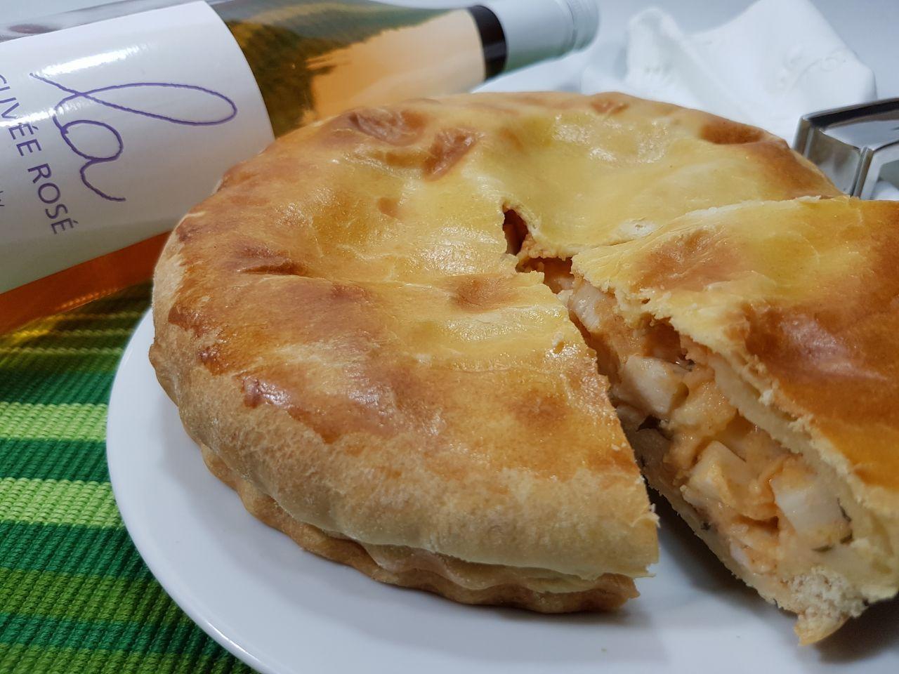 Kit Torta de Palmito Nova Benta 600g + Vinho Georges Duboeuf La Cuvée Rosé 750ml