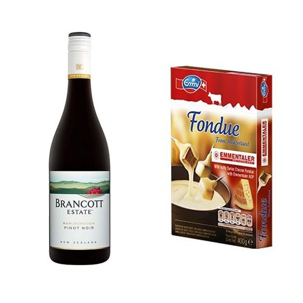 Kit Vinho Brancott Estate Pinot Noir 750ml + Fondue de Queijo 400g