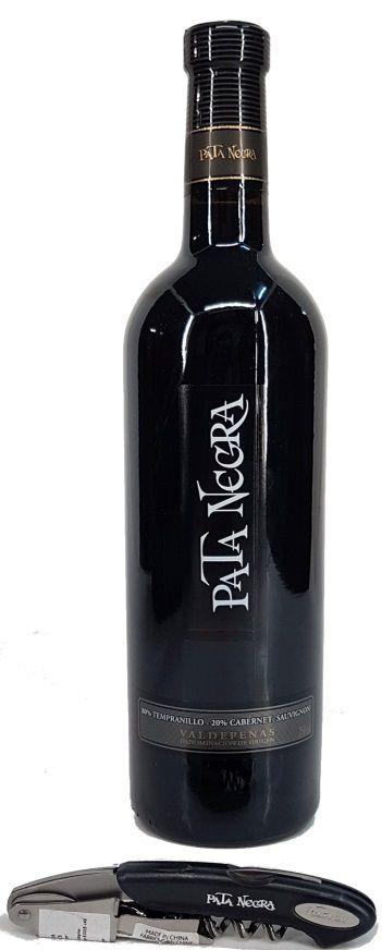 Kit Vinho Pata Negra Tempranillo Cabernet Sauvignon 750ml + Saca Rolhas