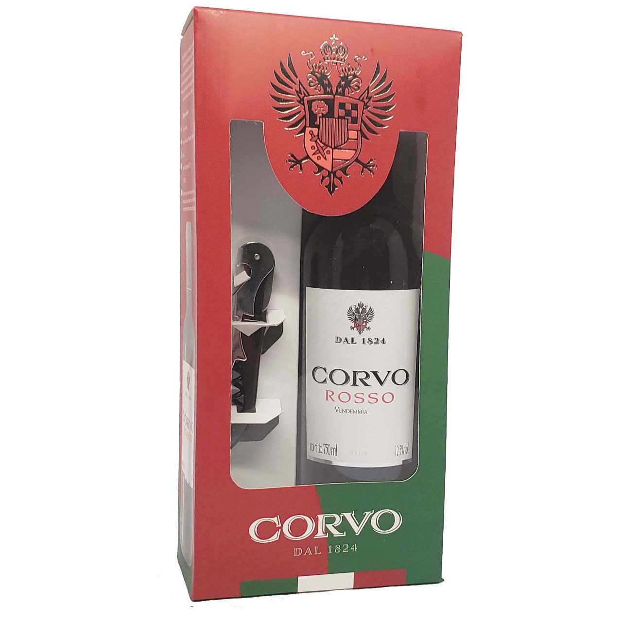 Kit Vinho Tinto Corvo Vendemmia + Abridor de Garrafa - 750ml -