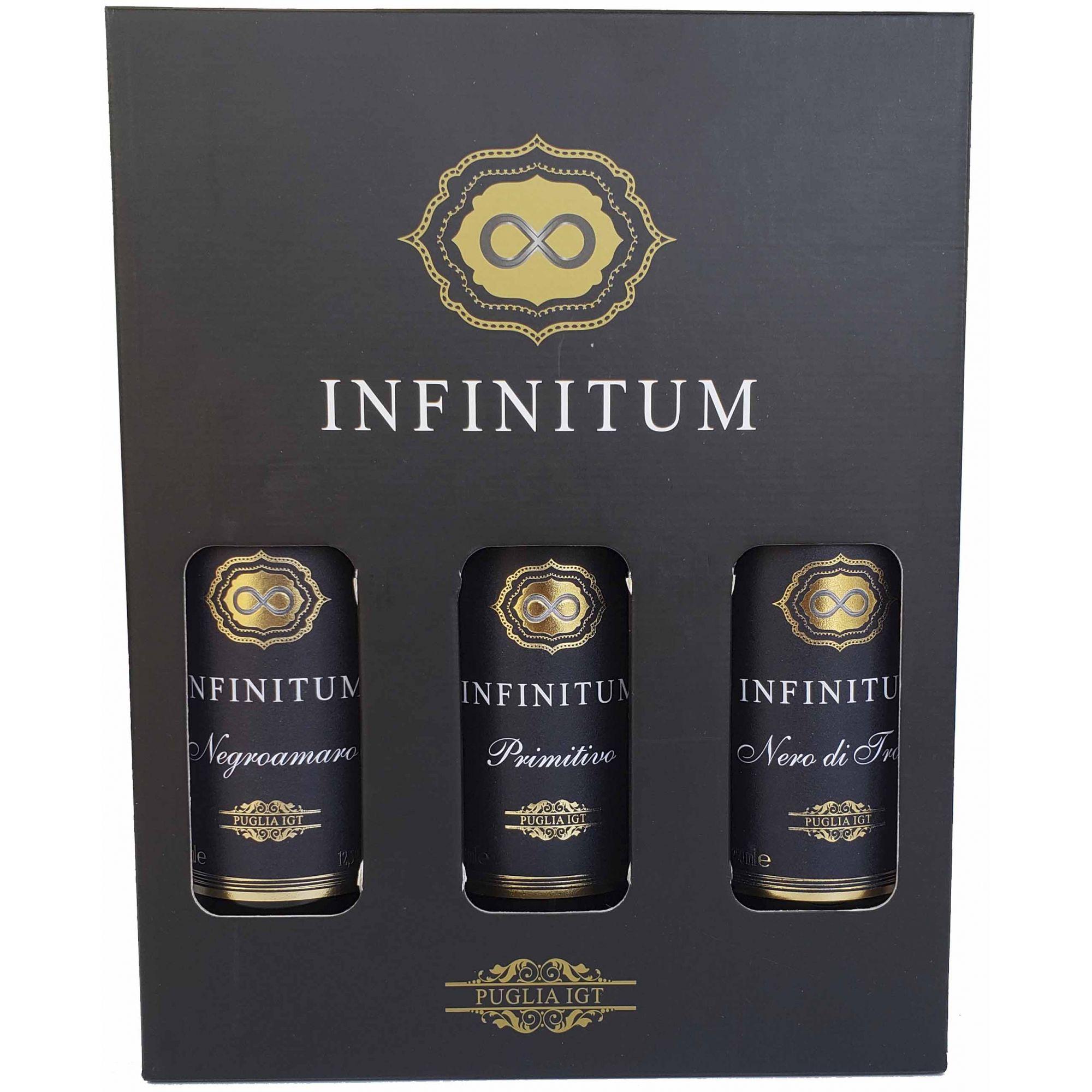 Kit Vinho Tinto Infinitum Puglia IGT Com 3 Garrafas