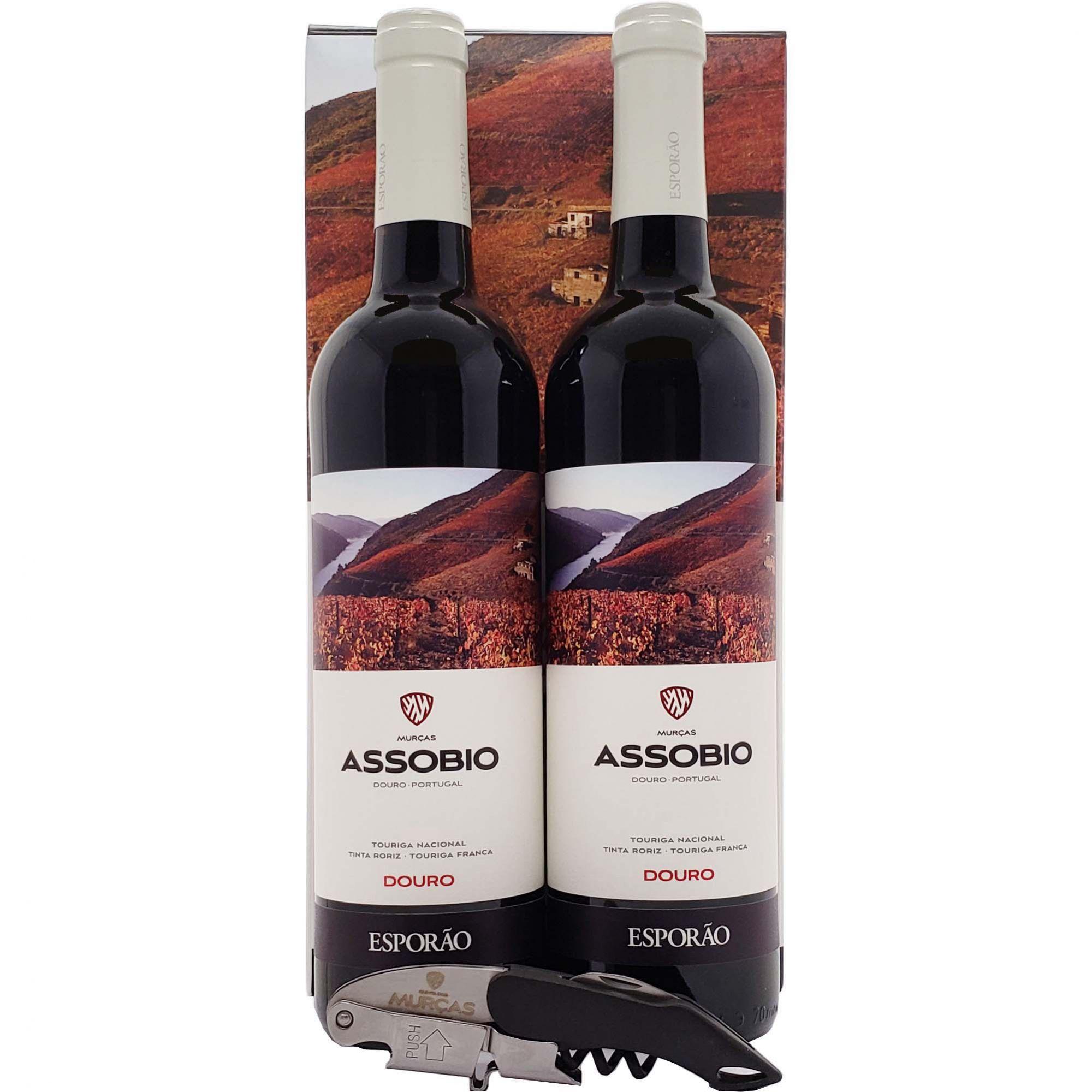 Kit Vinho Tinto Murças Assobio 02 Garrafas 750ml + Saca Rolhas