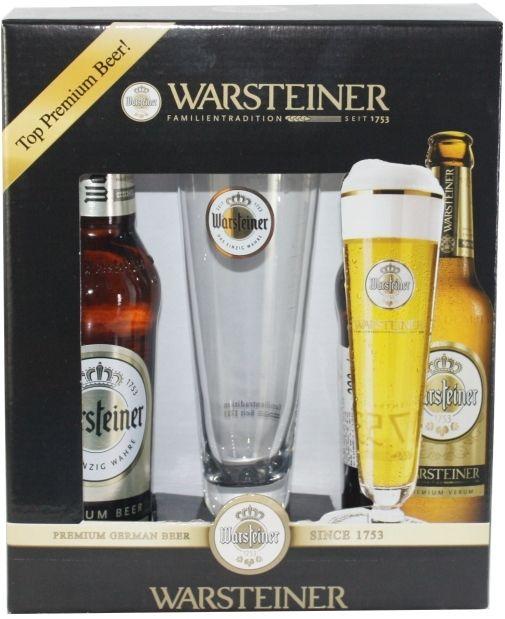 Kit Warsteiner Com 2 Cervejas e 1 Taça
