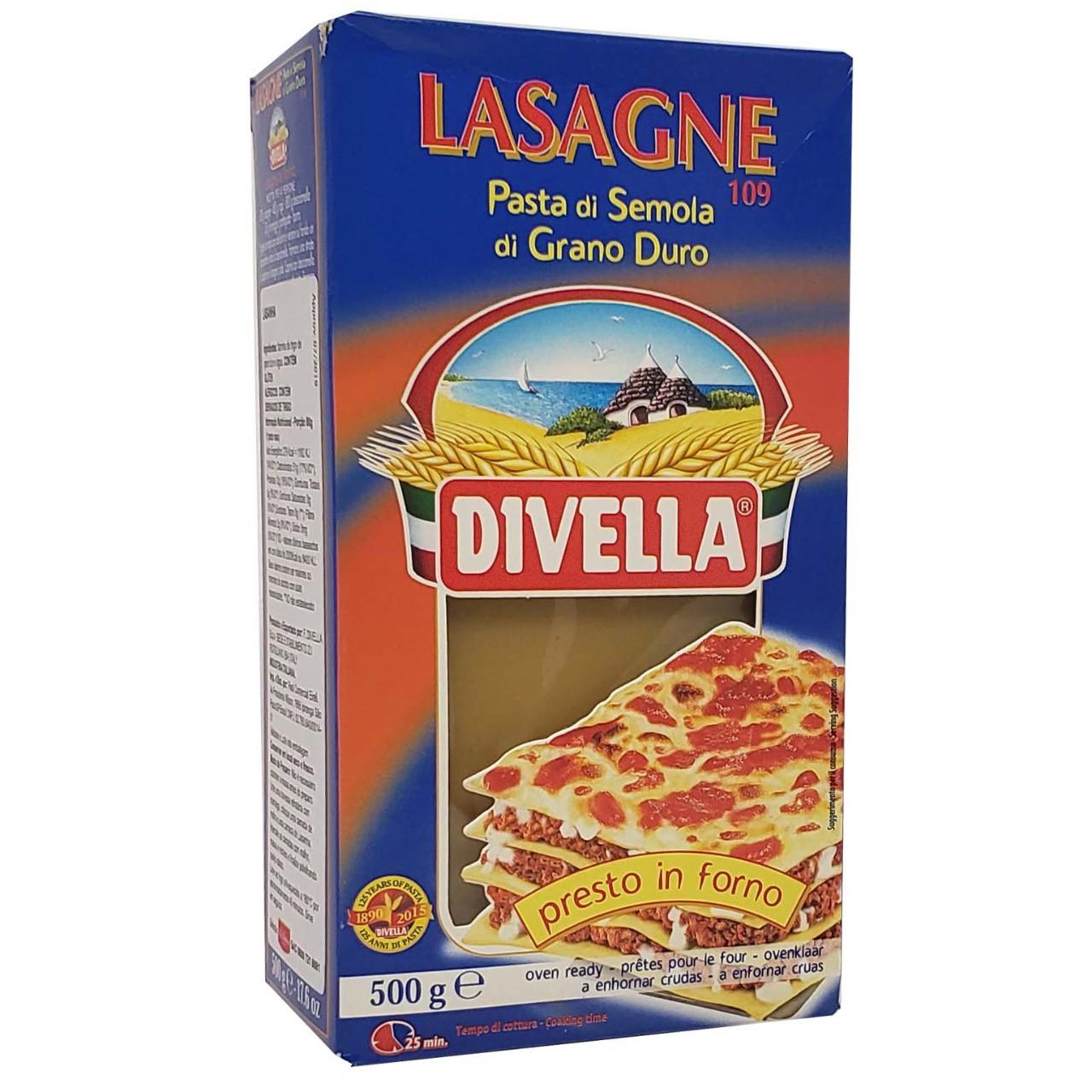 Lasagne Pasta di Semola di Grano Duro Divella - 500g -