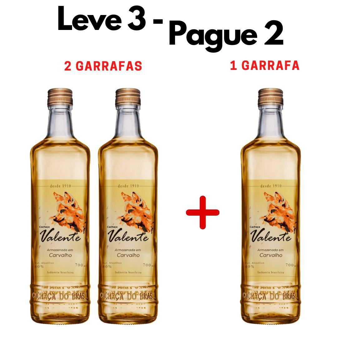 LEVE 3 - PAGUE 2 | 3 GARRAFAS Cachaça Valente Carvalho - 700ml -