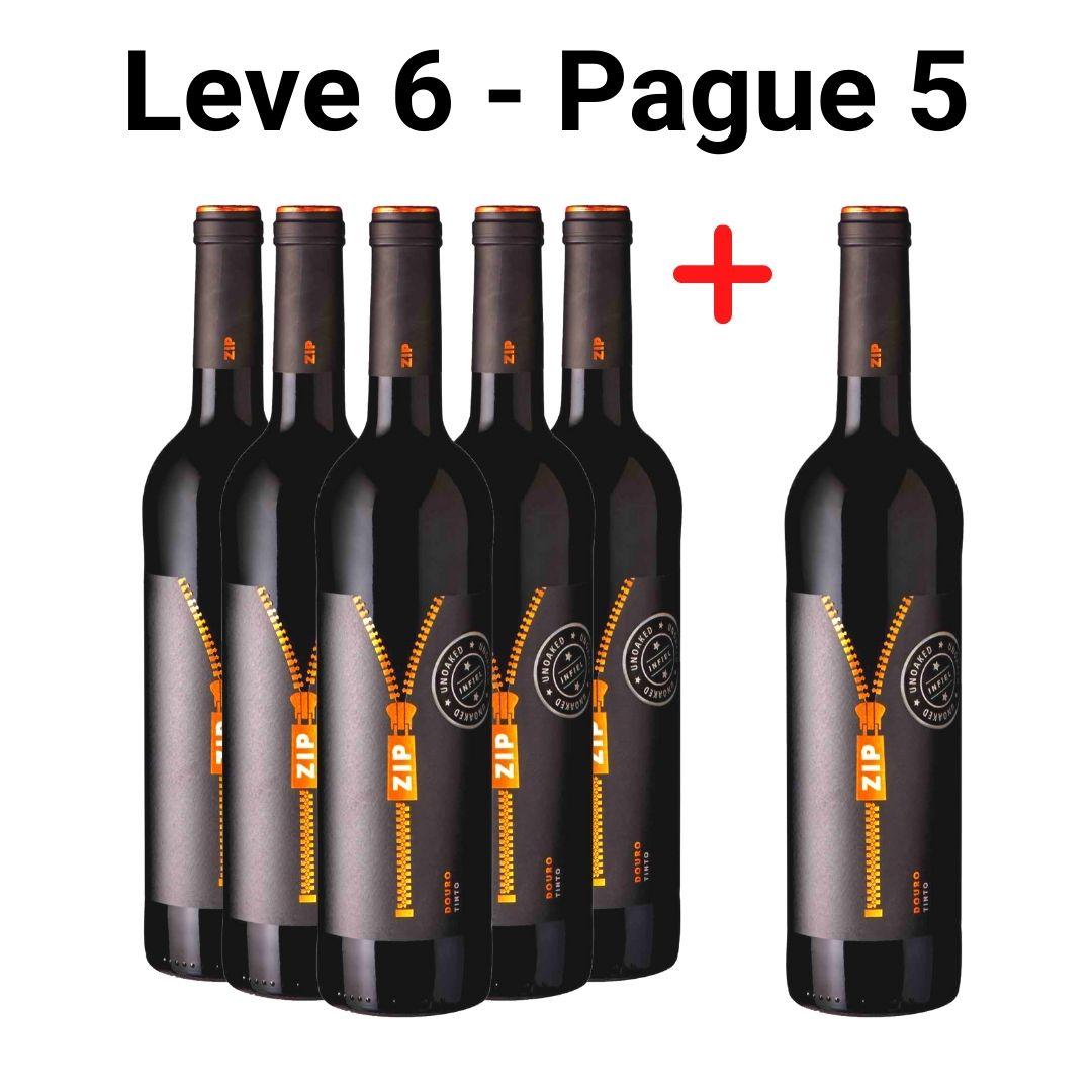 Leve 6 - Pague 5   Vinho Tinto Zip Unoaked - 750ml -