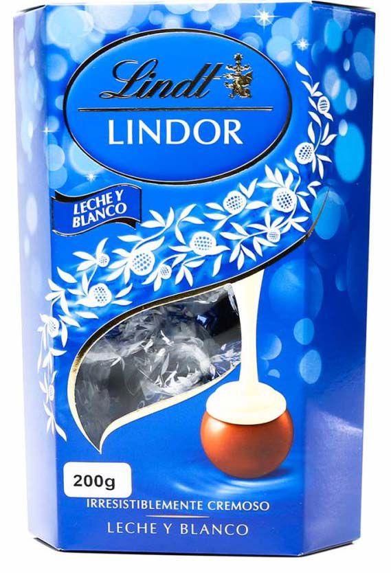Lindt Lindor Leite e Branco Chocolate 200g