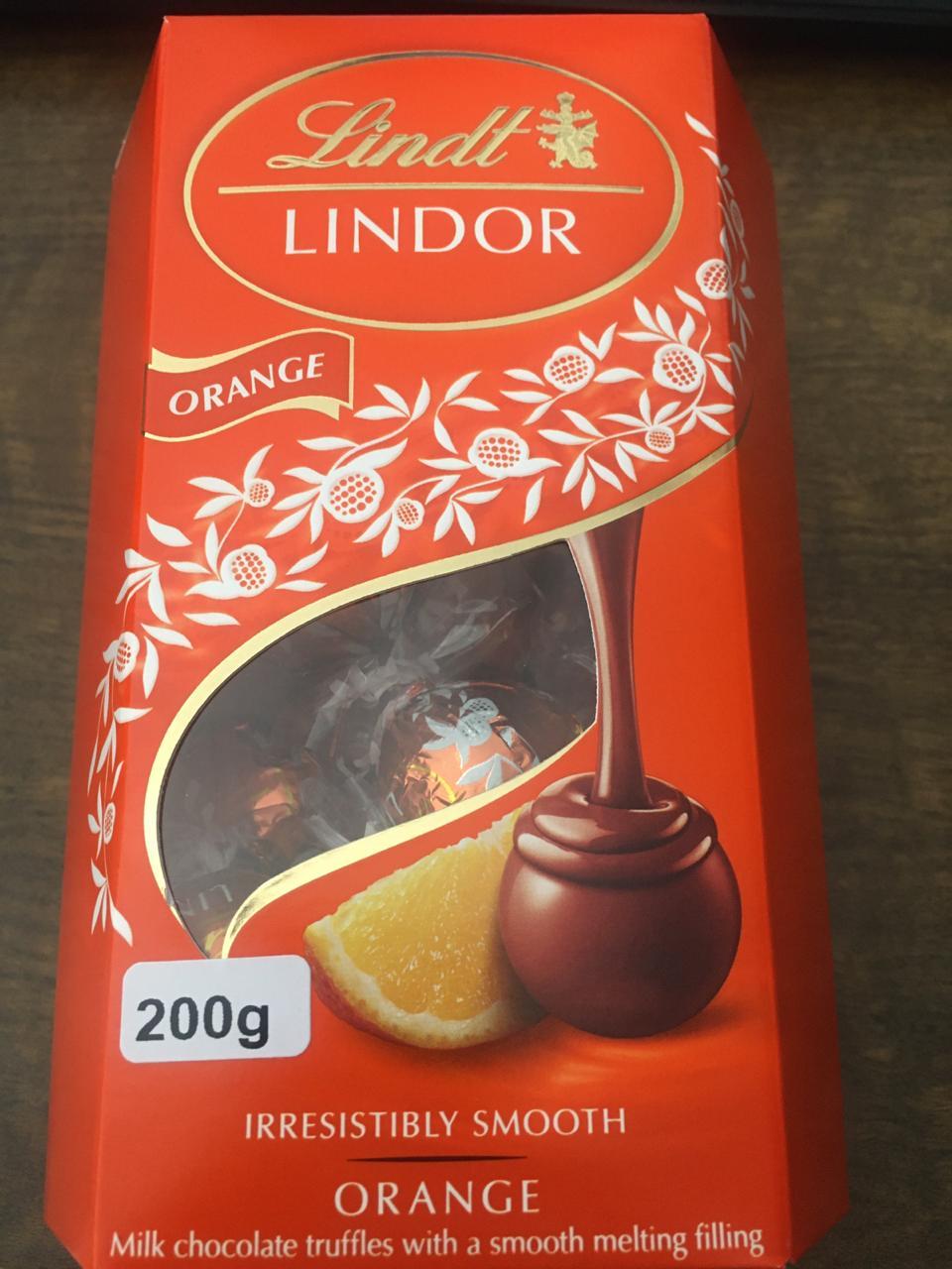 Lindt Lindor Orange Chocolate - 200g -
