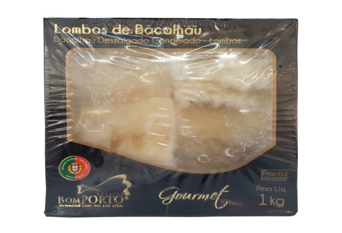 Lombos de Bacalhau Dessalgado Congelado GOURMET - Bom PORTO - 1kg