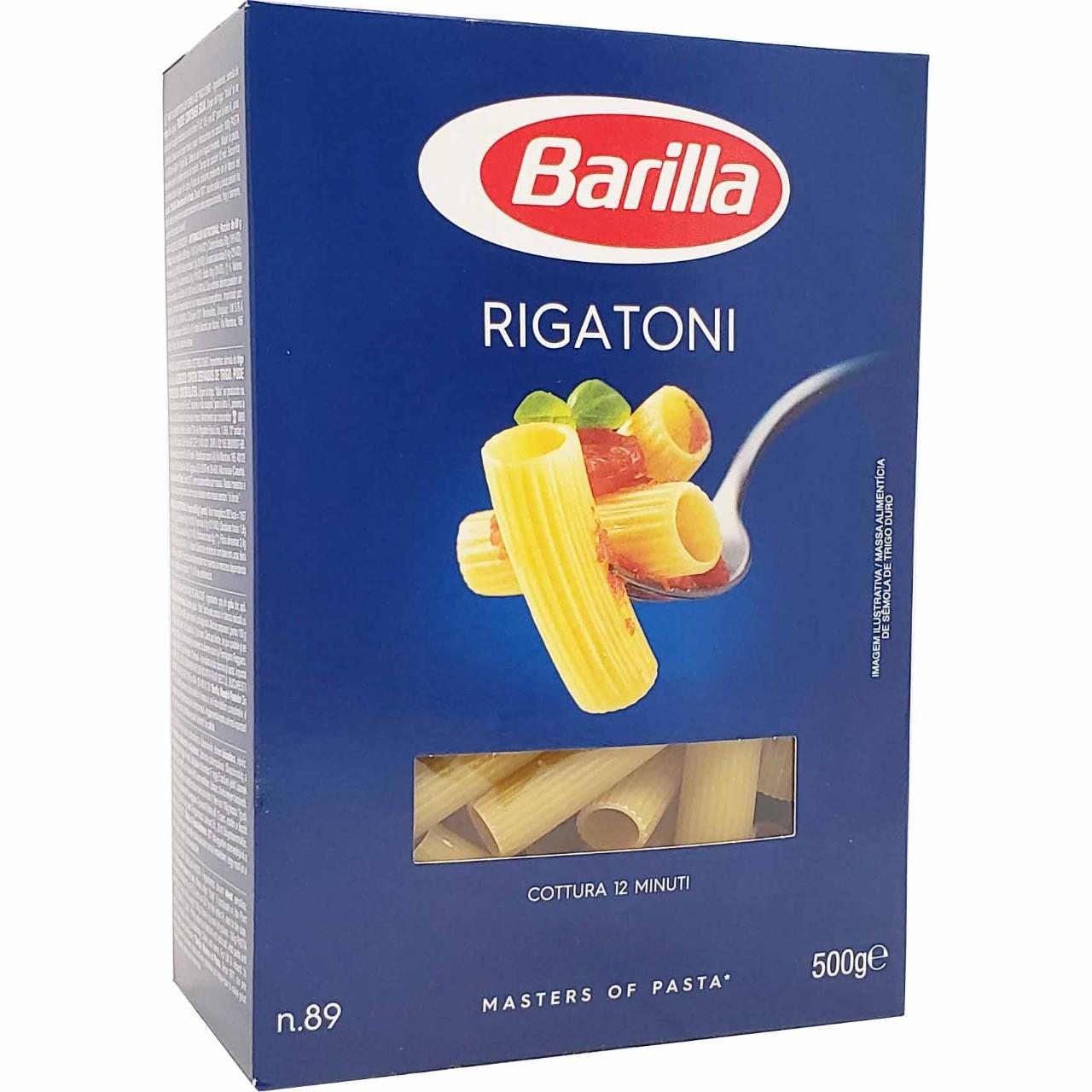 Macarrão Rigatoni Barilla - 500g -