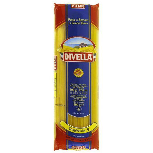 Macarrão Spaghettini 9 DIVELLA - 500g -