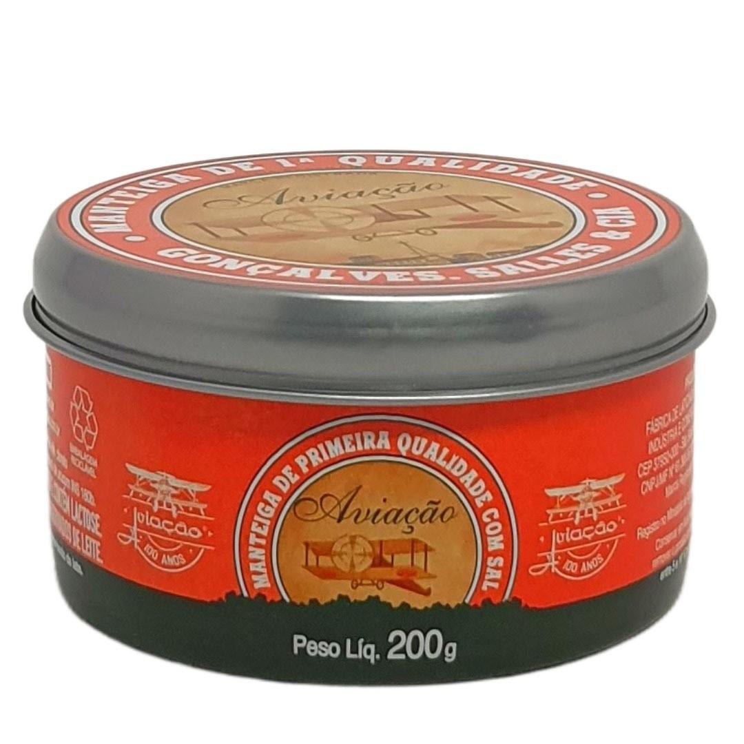 Manteiga Aviação Com Sal Lata - 200g -