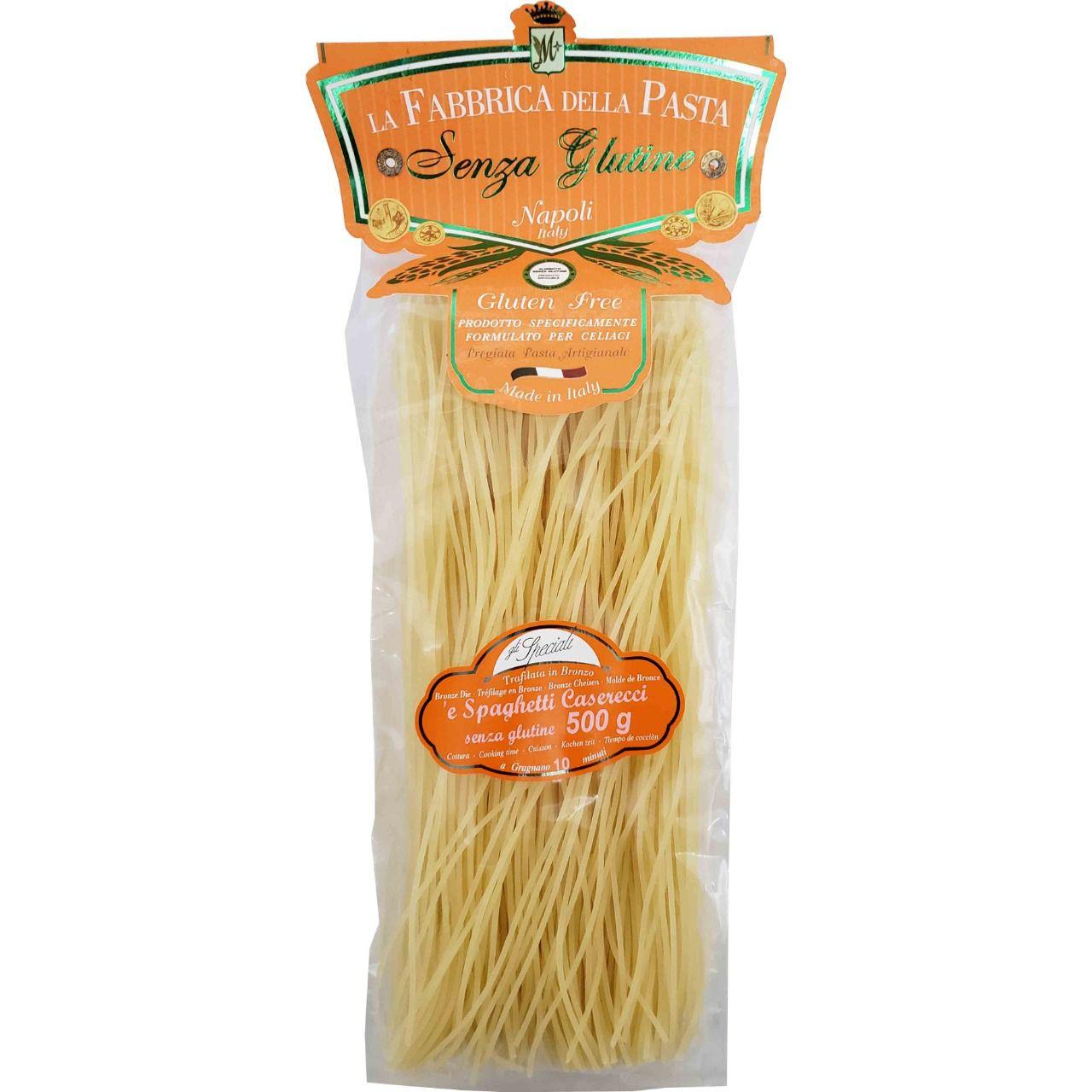 Massa Artesanal Italiana Spaghetti Caserecci Sem Glúten La Fabbrica della Pasta di Gragnano - 500g -