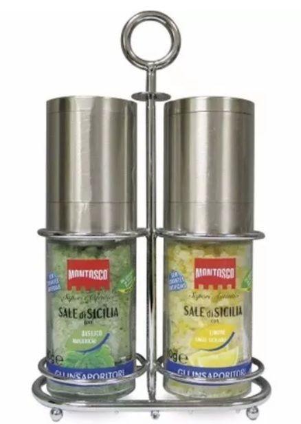 Moedores Montosco Sal Com Manjericão E Limão Siciliano Kit C 2