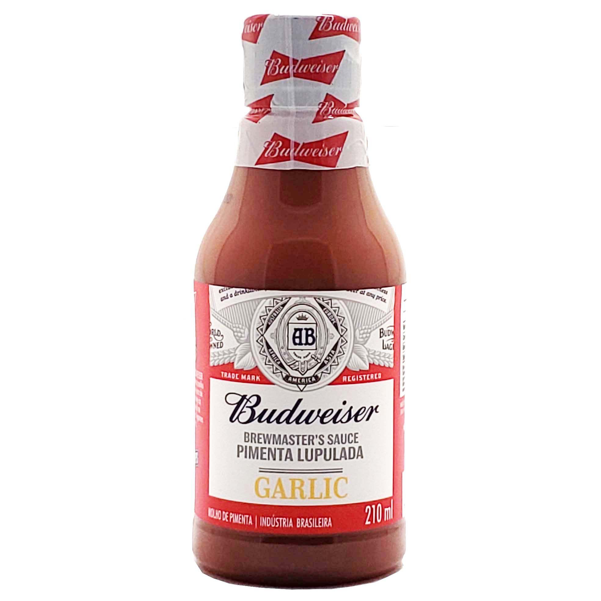 Molho de Pimenta Budweiser Garlic - 210ml -
