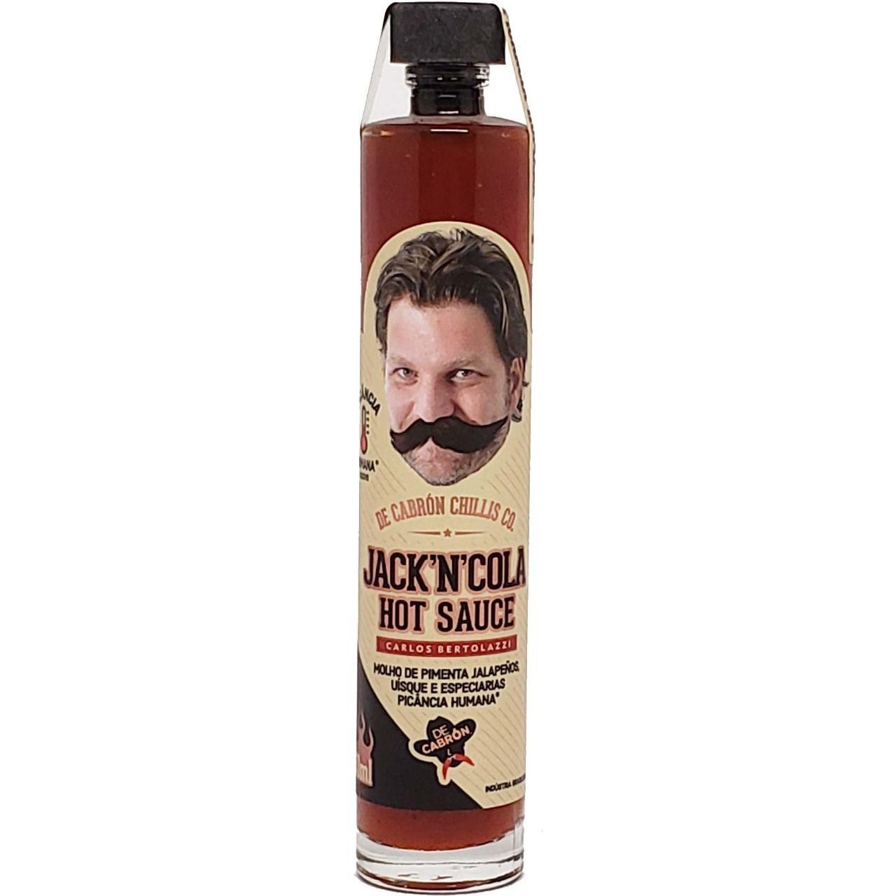 Molho de Pimenta Jack´N´Cola Hot Sauce De Cabrón - 50ml -