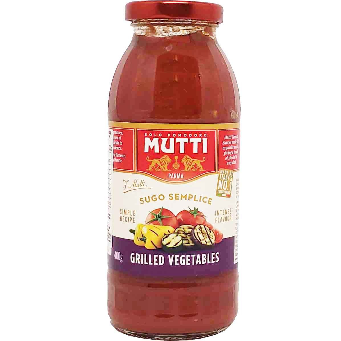 Molho de Tomate Mutti Grilled Vegetables - 400g -