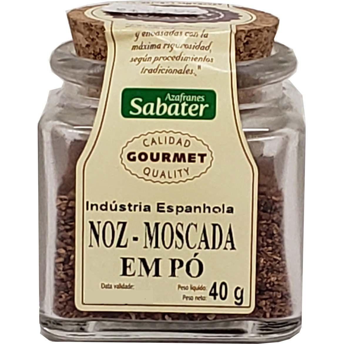 Noz Moscada Em Pó Azafranes Sabater - 40g -