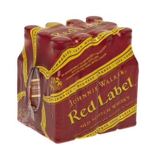 Pack com 12 Un Whisky Johnnie Walker Red Label - 50ml -