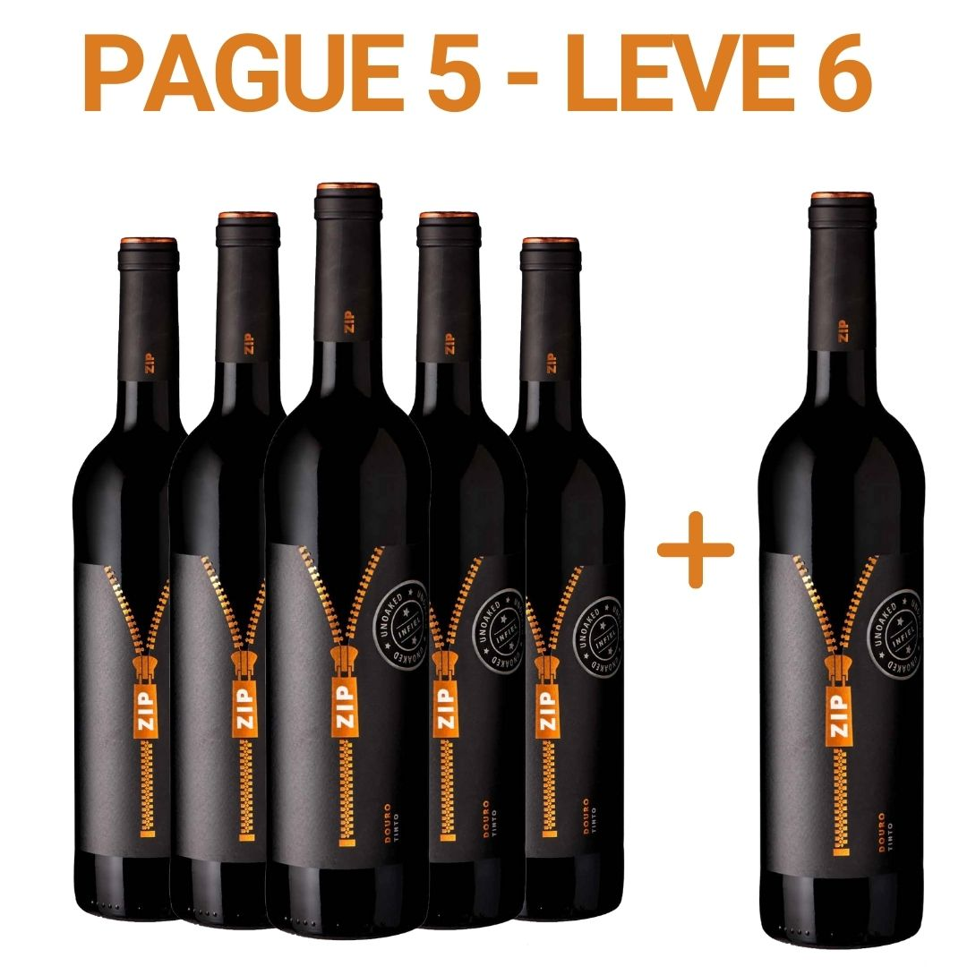 Pague 5 - Leve 6 Zip Unoaked - 750ml -