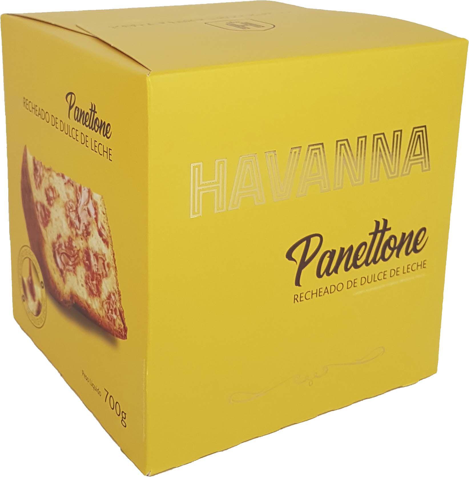 Panettone Havanna Recheado de Dulce de Leite - 700g -