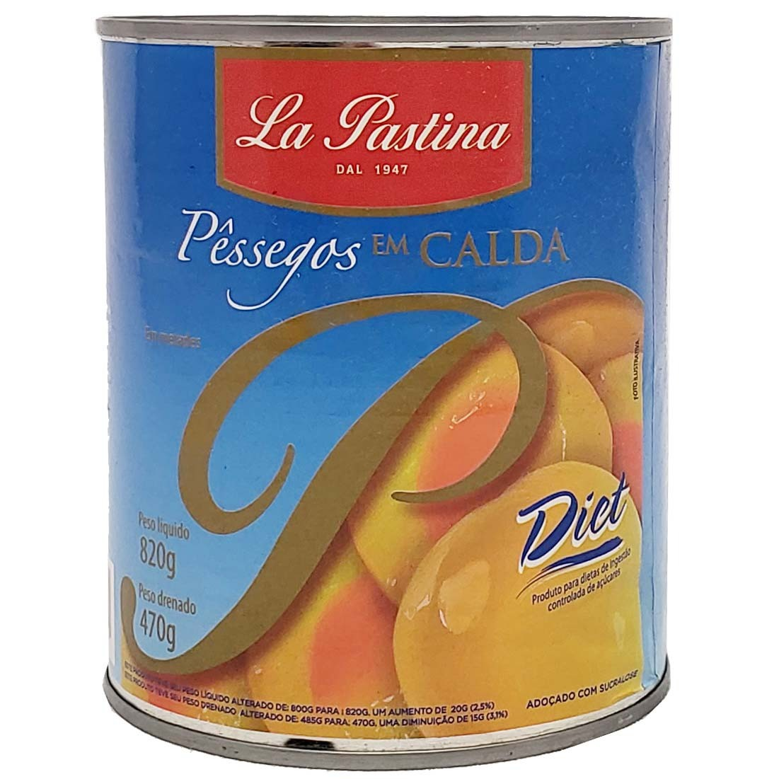Pêssegos Em Calda Diet La Pastina - 470g -