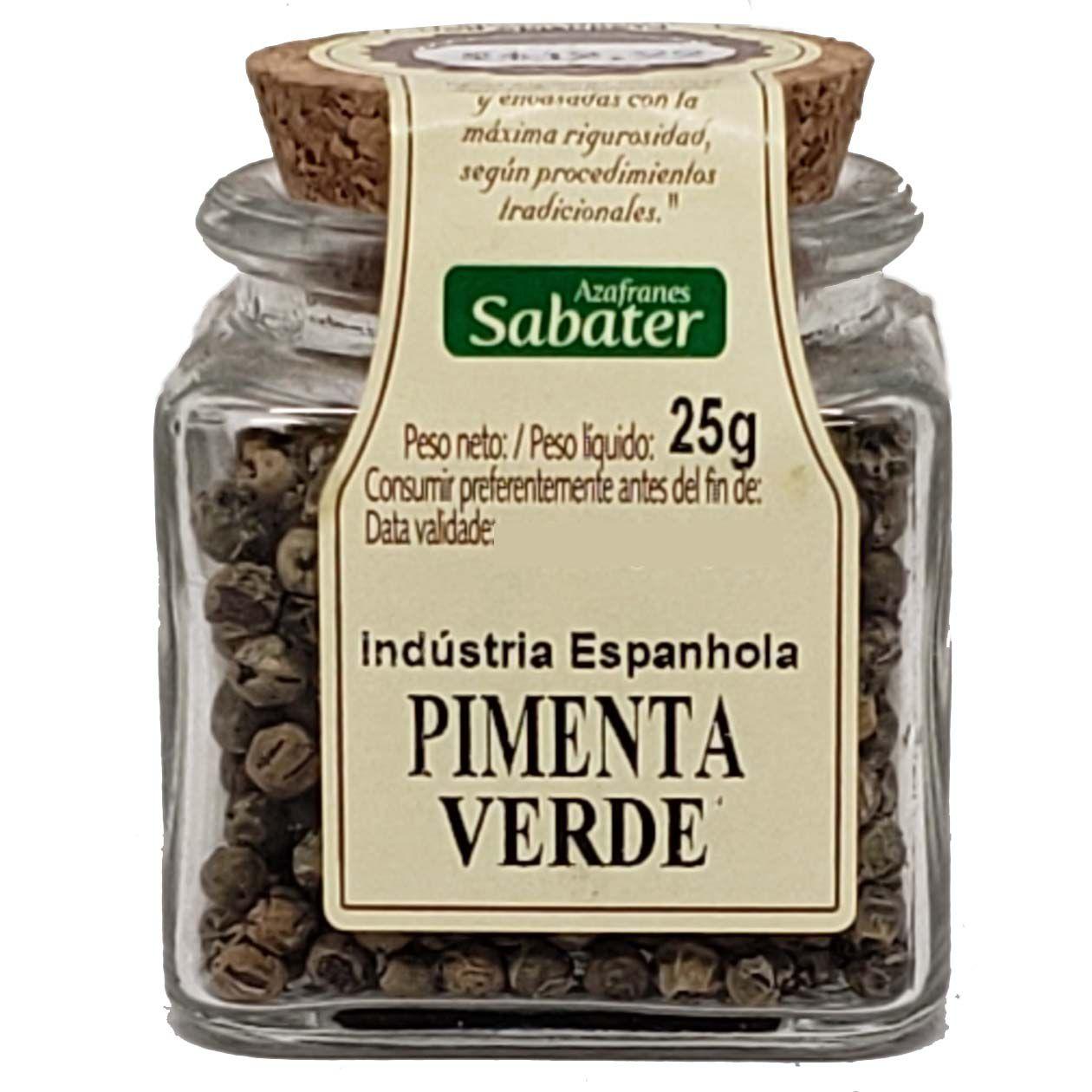 Pimenta Verde Azafranes Sabater - 25g -