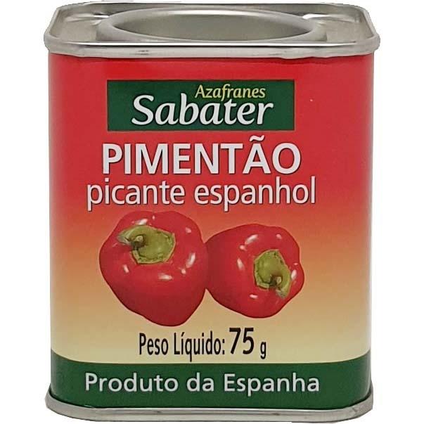 Pimentão Picante Espanhol Azafrones Sabater - 75g -
