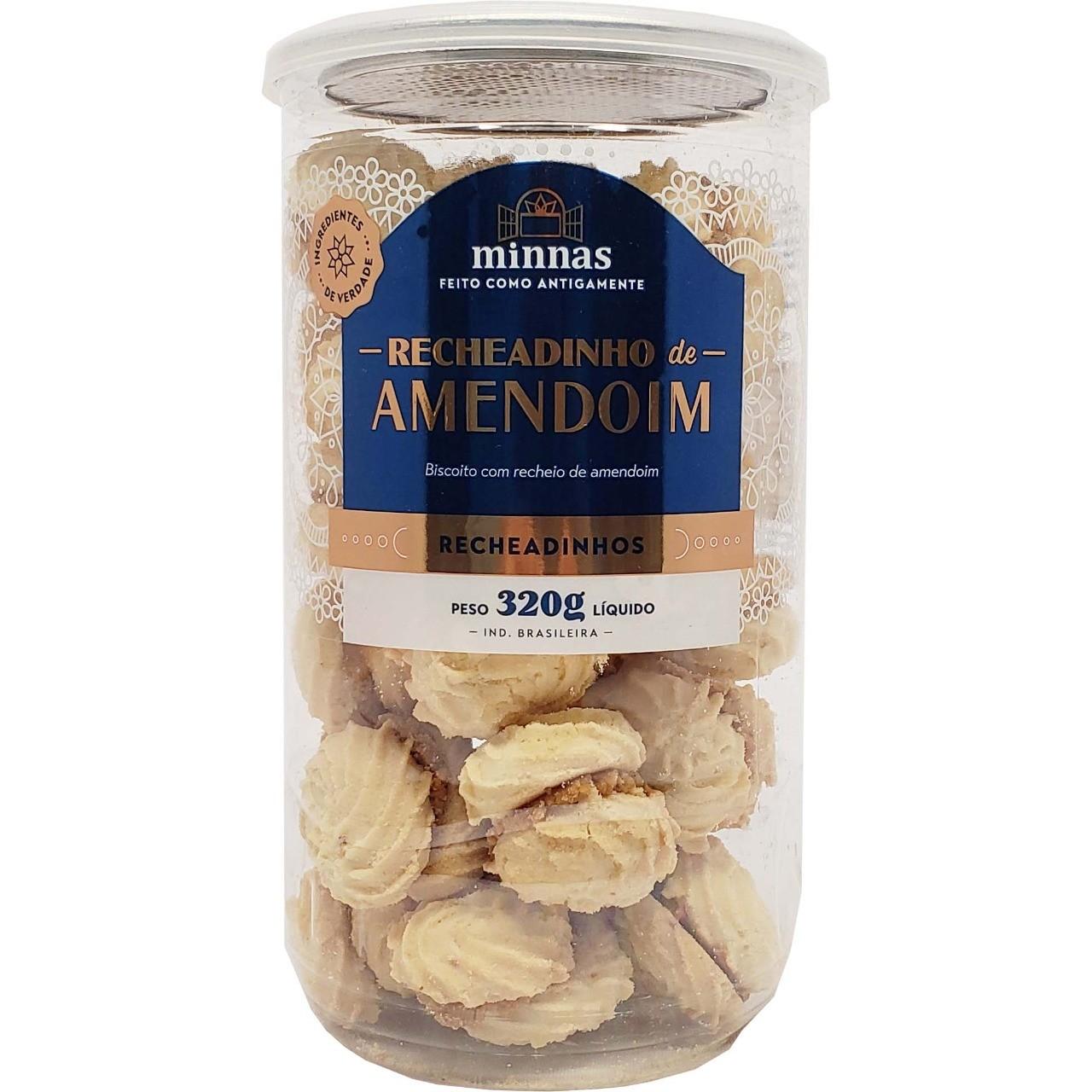 Recheadinho de Amendoim Minnas - 320g -