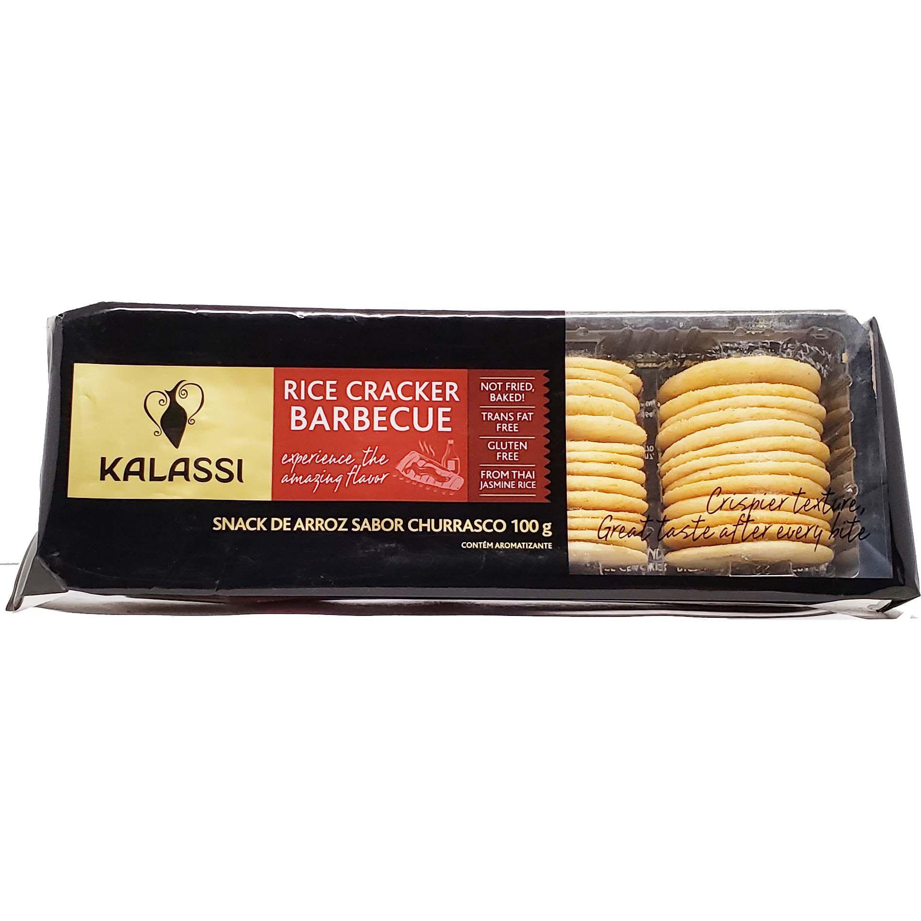 Snack De Arroz Sabor Churrasco Kalassi - 100g -