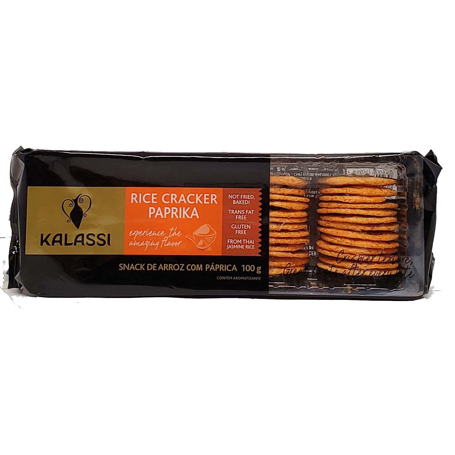 Snack De Arroz Sabor Paprika Kalassi - 100g -