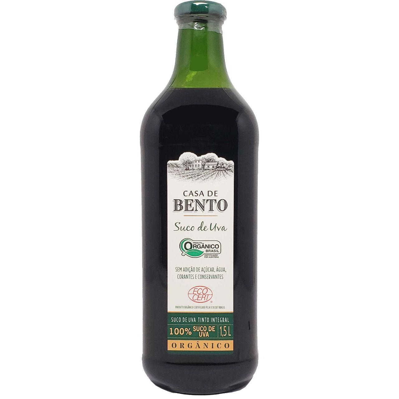 Suco de Uva Tinto Integral Orgânico Casa de Bento - 1,5L -