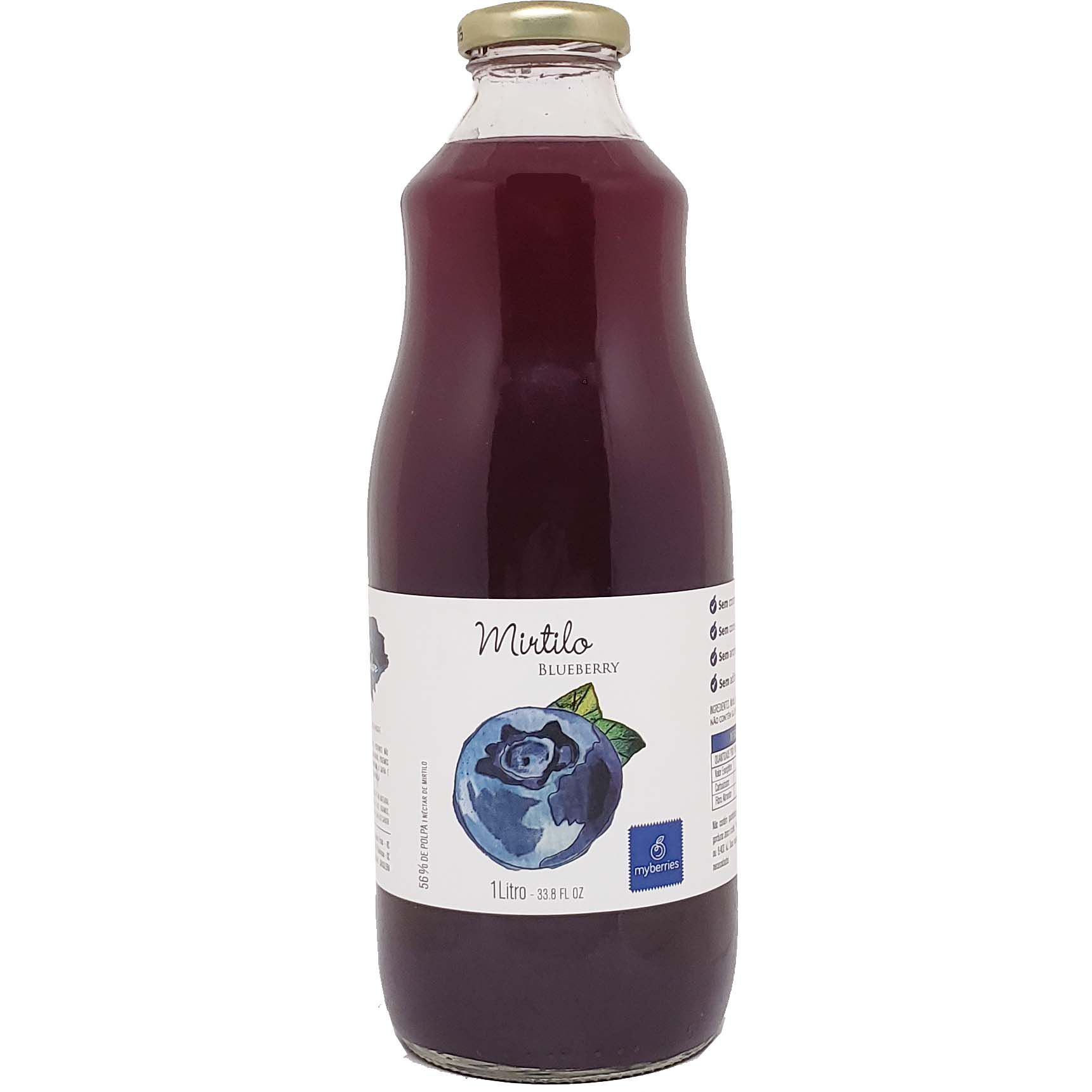 Suco Néctar Mirtilo Blueberry Myberries - 1L -