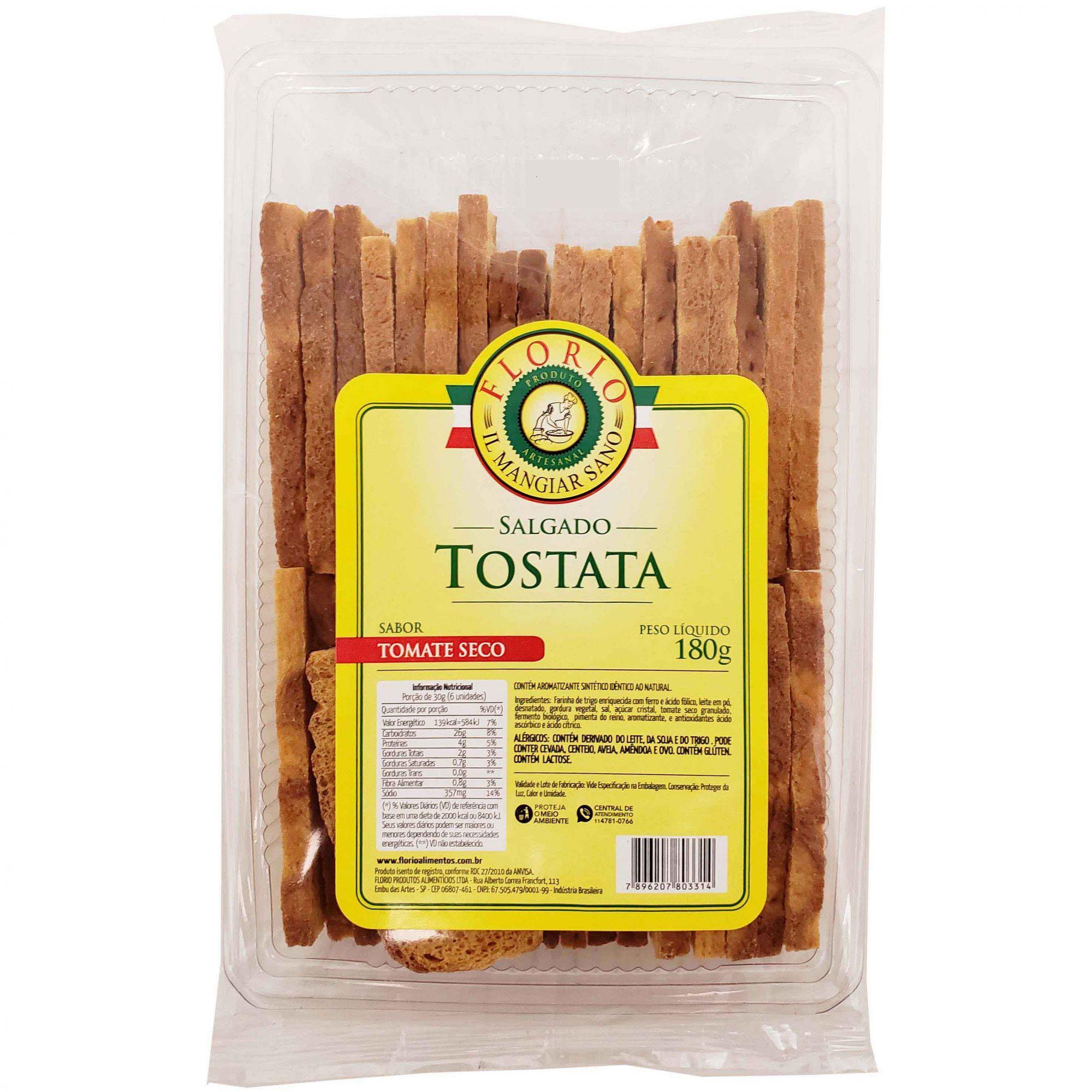 Torrada Tostata  Tomate Seco Florio - 180g -