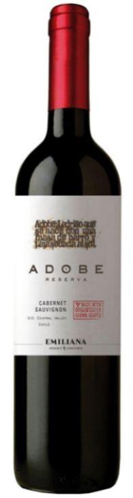 Vinho Tinto Adobe Reserva Cabernet Sauvignon  Emilliana - 750ml -