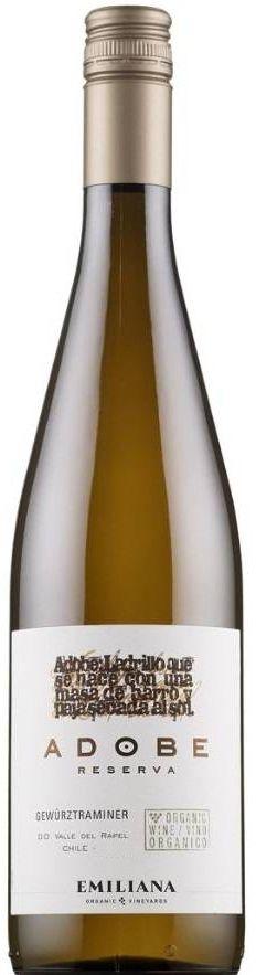 Vinho Branco Adobe Reserva Gewürztraminer Emiliana - 750ml -