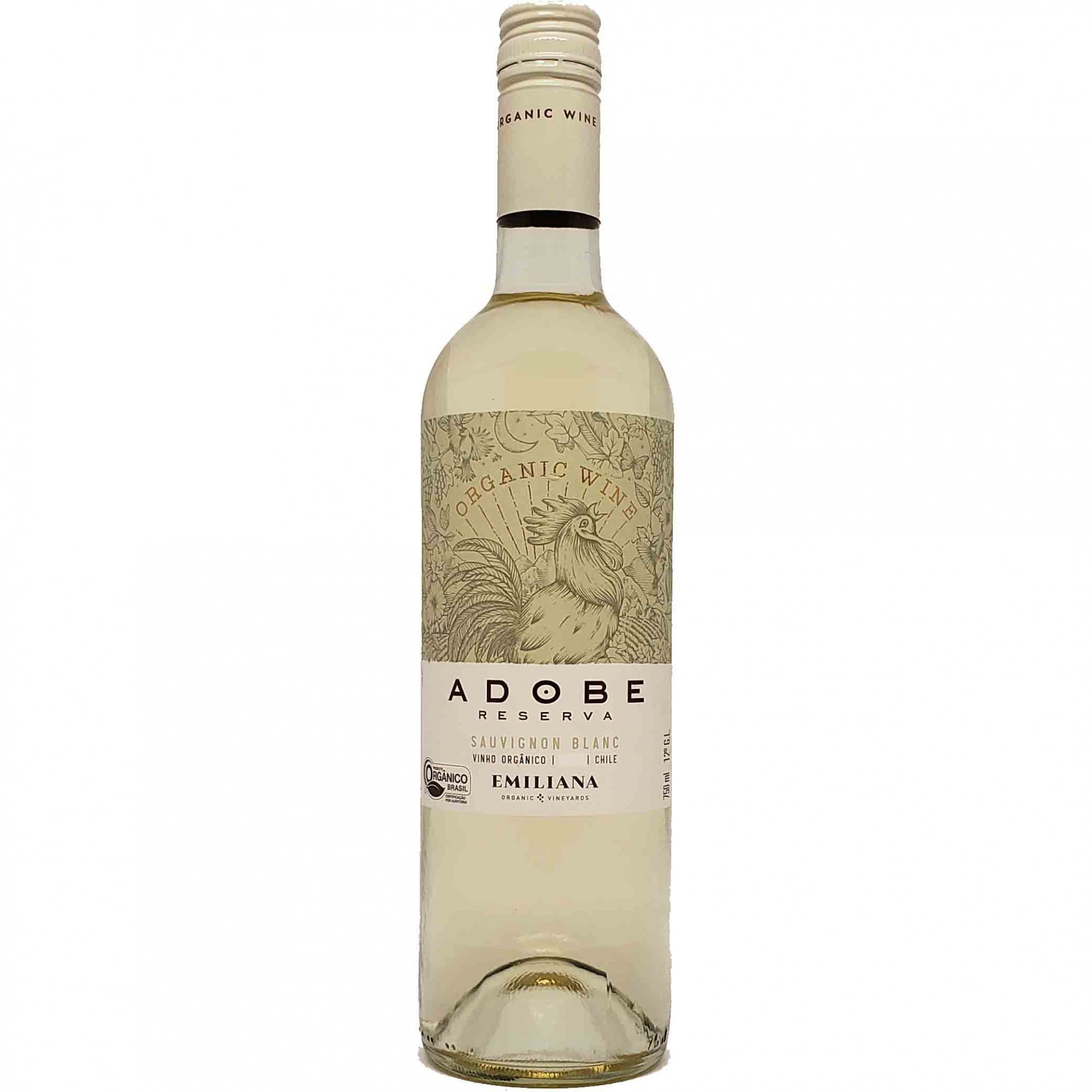 Vinho Branco Adobe Emiliana Sauvignon Blanc - 750ml -
